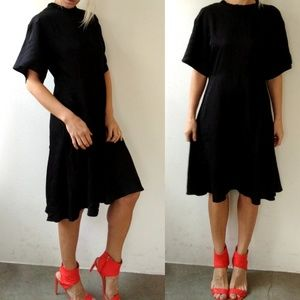 Nwot Lovechild 1979 Emma black sleek day dress 4